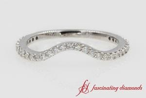Delicate Curved Diamond Band