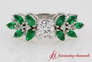 Marquise Emerald Engagement Ring