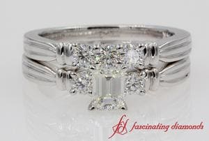 Emerald Cut Tapered Ring Set