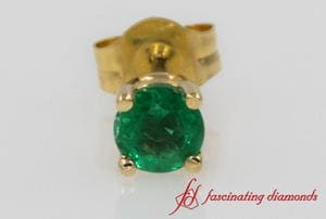 Emerald Stud Earring For Men In Gold