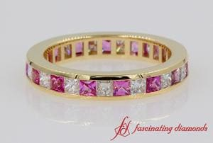 Eternity Princess Cut Diamond Band
