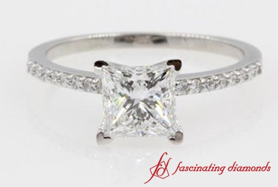 Princess Cut Diamond Petite Ring