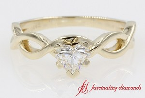 Braided Solitaire Engagement Ring