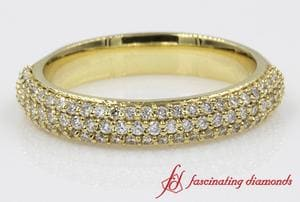 Multi Row Diamond Womens Band
