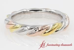 Mixed Gold Twist Style Band