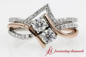 2 Stone Bridal Ring With Band