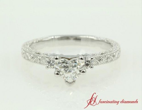 Antique Three Stone Engagement Ring