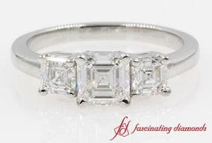 Asscher Past Present And Future Ring