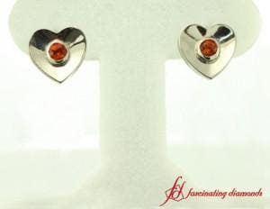 Inexpensive White Gold Stud Earring For Ladies