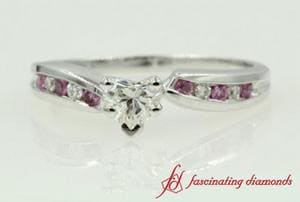 Twist Heart Engagement Ring