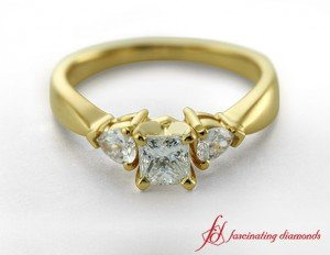 Princess Cut Diamond Three Stone Ring