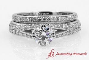 Split Pave Shank Diamond Bridal Set