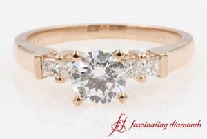 Round Cut & Princess Diamond Ring