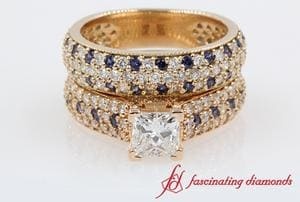 Princess Cut Wedding Ring Set