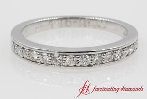 White Gold Pave Diamond Wedding Band For Women