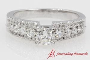 Triple Row Cushion Diamond Ring