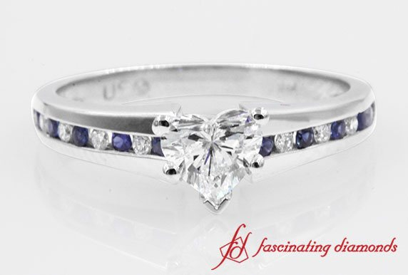 Channel Sapphire Engagement Ring