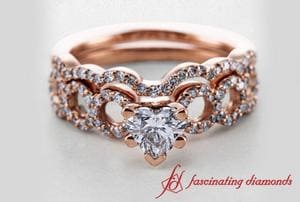 Entwine Loop Heart Diamond Wedding Set