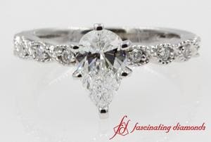 Antique Braided Pear Diamond Ring