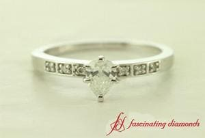 Pave Accent Engagement Ring