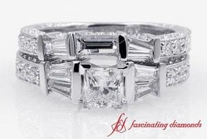 Princess Cut Diamond Wedding Ring Set