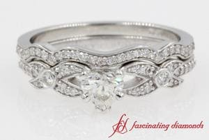 Wedding Ring Set With Round Accents