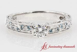 Vintage Style Round Diamond Ring