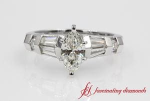 Baguette With Marquise Cut Ring