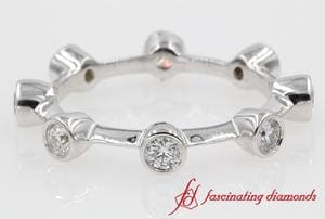 Bezel Set 8 Eternity Diamond Rings