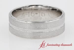 Mens Engravable Comfort Fit Wedding Band