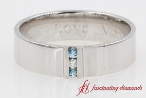 3 Stone Topaz Wedding Band