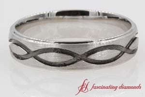Brushed Finish Infinity Design Band
