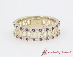Heart Linked Wedding Band