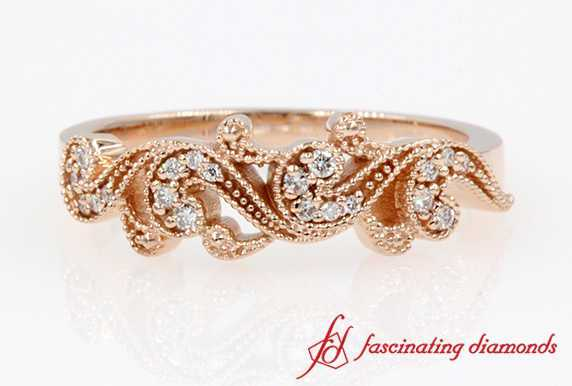 Filigree Milgrain Wedding Band