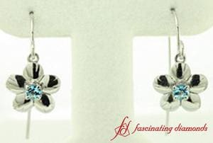Floral Topaz Drop Earrings