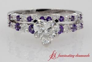 Wedding Set With Purple Topaz