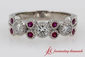 Half Eternity Ruby Wedding Band