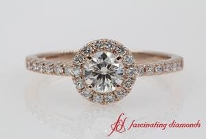 Halo Round Engagement Ring
