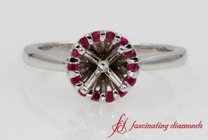 Halo Ruby Engagement Ring Setting