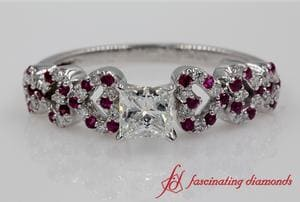 Heart Design Ruby Wedding Ring