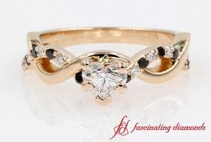 Heart Diamond Infinity Engagement Ring