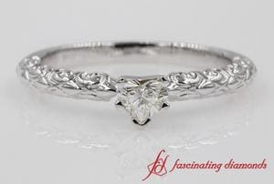 Heart Diamond Vintage Solitaire Ring