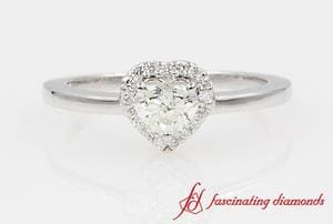 Heart Shaped Diamond Halo Ring