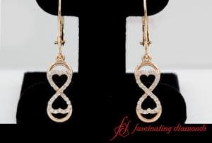 Infinity Diamond Drop Dangle Earring