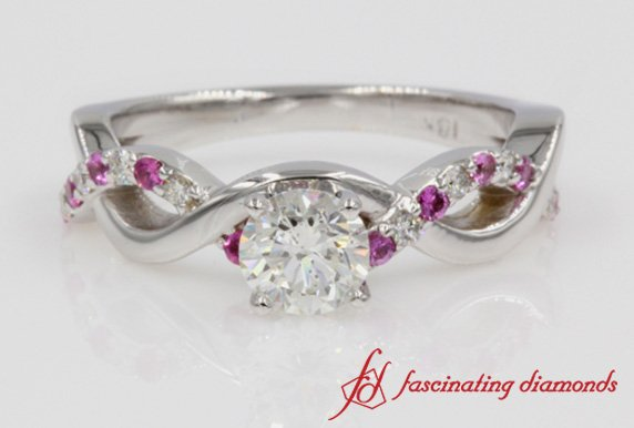Infinity Ring With Pink Sapphire