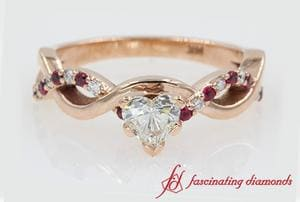 Infinity Diamond And Ruby Ring