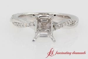 Twist Diamond Ring Setting