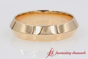 Knife Edge Plain Band 6MM In Rose Gold