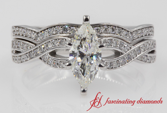 Entwined Diamond Bridal Set