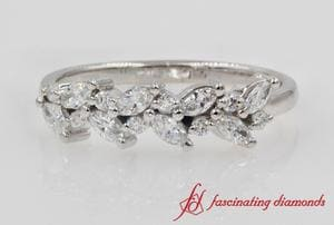 Marquise Diamond Wedding Anniversary Ring In Platinum